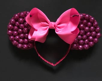 Pink Sparkly Oversized Mouse Ears