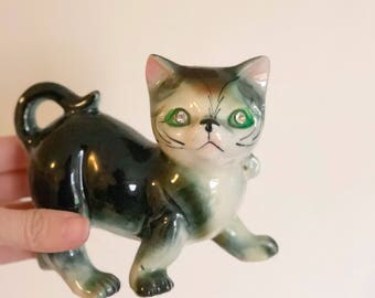 Vintage ceramic cat / made in japan