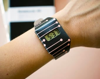 Trendy paper watch, Tyvek digital watch, Stylish Light weight wristband, Tear proof paper watch, Unisex fashion accessory