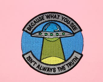 UFO Same Parts Iron-On Patch