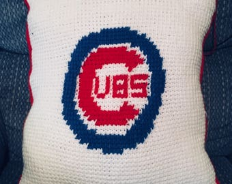 Decorative Chicago Cubs Inspired Throw Pillow
