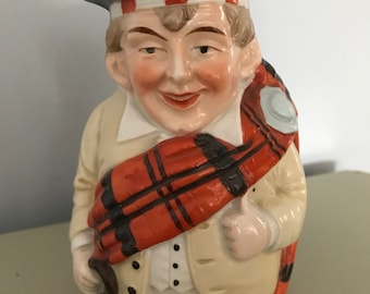 Jolly Scotsman Porcelain Character Jug Toby Jug 1900s