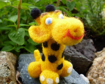 Giraffe - from pure sheep's wool, felted lovingly with the needle.