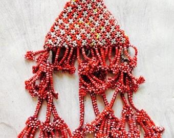 Vintage Kuchi Tribal Beaded Tassel Bag Tassel, Door Decor, Belly Dance Costumes
