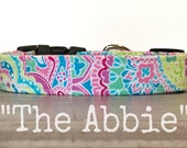 Dog Collar for Girls, The Abbie, Colorful Dog Collar, Dog Collars for Girls, Paisley Dog Collars