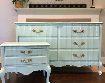 Attractive AVAILABLE   Tiffany Blue Dresser U0026 Nightstand | French Provincial Dresser | Girls  Bedroom Set {