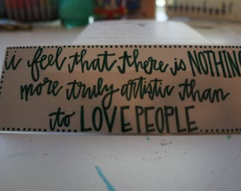 Love People Bookmark