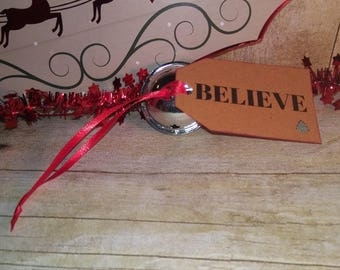 First Gift of Christmas Holiday Believe Bell Polar Ornament