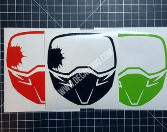 Paintball Mask Decal Sticker - Goggles Splatter pball