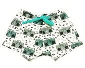 Teal Boom Boxes Baby Toddler Boy Girl Euro Swim Trunks Shorts Swimsuit Rocker Beach Pool