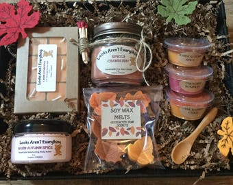 Candle gift basket etsy gift basket gift set candle gift set body butter fall gift set negle Image collections
