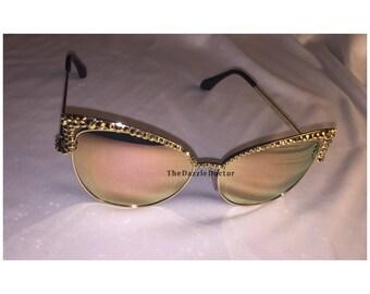 Swarovski Cateye Sunglasses, Cateye Sunglasses, Bling Sunglasses, Swarovski Shades, Cateye Sunnies, Cateye glasses, Swarovski cateye glasses