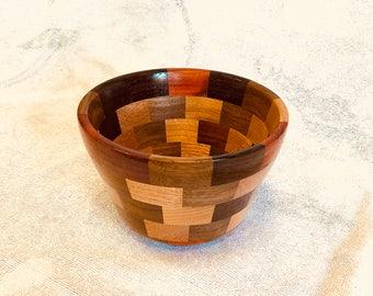 Randomwood segmented wood bowl