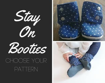 Baby Stay on Booties // Stay on Booties // Crib Shoes // Soft Soled Shoes // Custom baby shoes // baby gift // baby shower gift