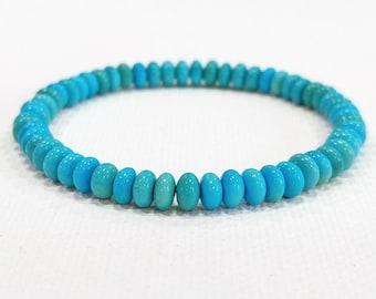 Sleeping Beauty Turquoise, Natural Turquoise, Turquoise Bracelet, Metaphysical Jewelry, Charka Jewelry, Healing Stone, Gemstone Bracelet