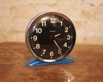 1960's Blue Retro Clock by Columbia