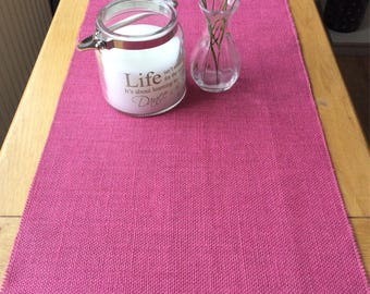 Pink Hessian Burlap Table Runner
