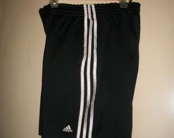 Men's Vintage 90's Adidas Black, White Athletic Shorts Size M