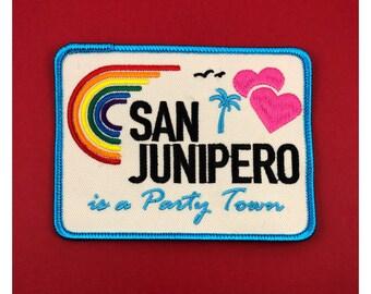 San Junipero Patch Black Mirror Netflix LGBT feminist patch feminism patch Lesbian patch Gay Girls Pride travel patch retro vintage