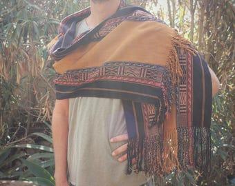 Andean Alpaca Shawl/Table Runner- handloom woven