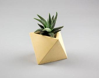 Concrete planter, Succulent planter, Succulent concrete planter, Geometric planter pot