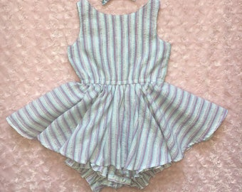 Handmade dress woth attached bloomer size 4t.