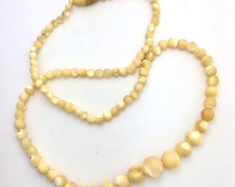 Antique/Vintage Mother of Pearl Bead Necklace