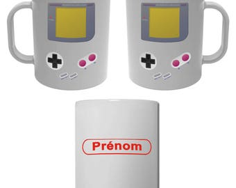 Mug Cup games Console vintage with name personalized