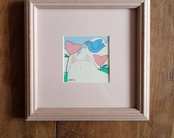Judith Ann Maiewski Watercolor,  Signed and Framed