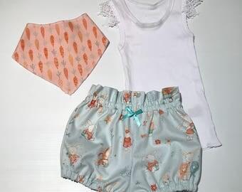 Easter Bunny shorts set