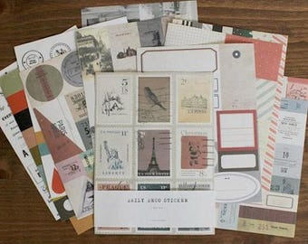 Stickers Deco Sticker set 12 sheets Daily