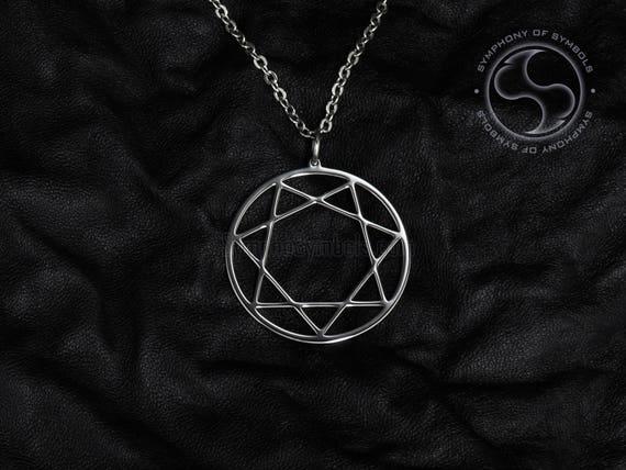 Heptagram pendant thelema symbol stainless steel babalon like this item aloadofball Choice Image