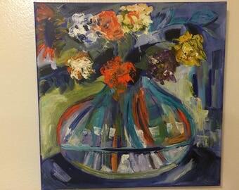 Vase of flowers - by Karen M.