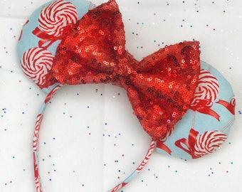 Peppermint Christmas Ears
