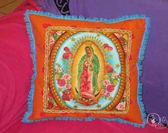Virgin of Guadalupe Cushion cover handmade