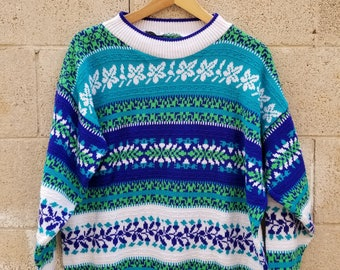 Cozy Eighties Sweater Vintage 1990s by Goodies and Co