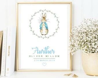 Personalised peter rabbit print