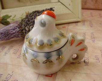 Vintage Russian porcelain, roster form kitchenware,vinegar,oil,condiment holder