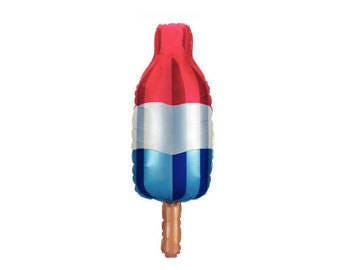 Red White and Blue Popsicle Balloon -