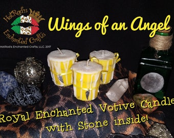 Wings of an Angel ~ Royal Enchanted Votive Candle