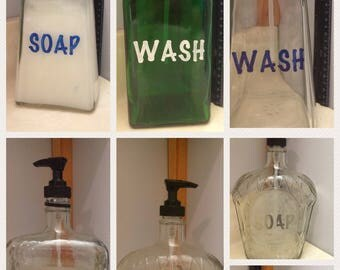 Repurposed soap dispenser