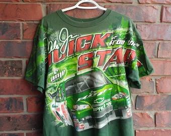 Vintage Nascar T-Shirt All Over Print Graphic Tee 1990s Racing Tee Shirt