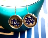 Notre Dame glass cabochon earrings- 16mm