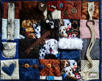 Fidget Blanket for the dog lover