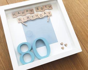 80th birthday gift, special birthday present, milestone birthday, 80th birthday, birthday gift, personalised birthday, birthday keepsake