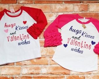 Girls icing raglan valentines shirt