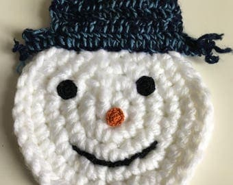 Crochet snowman face