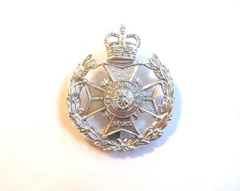 Robin Hood Battalion Sherwood Foresters Queen's Crown Cap/Hat Badge Silver - E598