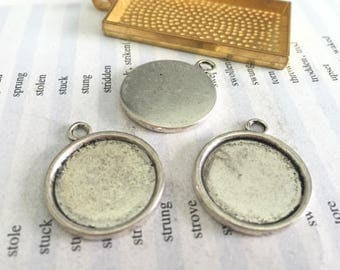 Wholesale 100 Pieces /Lot Antique Silver Plated 18mm or 20mm  cabochon blanks trays charms