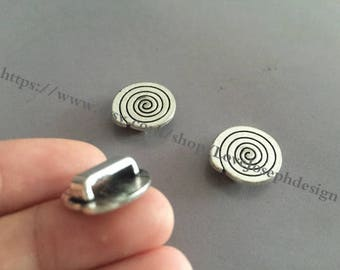 20 Pieces /Lot Antique Silver Plated 16mm pad slide bracelet blanks cabochon bezel trays charms (#0116)
